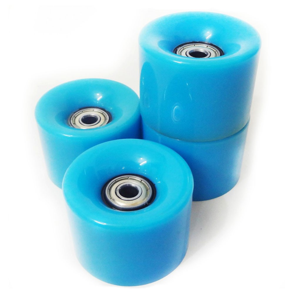 Rodas Skate Kit 4 Rolamentos Esportes Abec 7 Silicone Completo