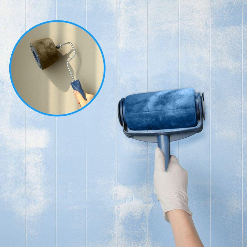 Rolo de Pintura Parede Facil Pintar Criativa Casa Para Cantos  Sem Sujeira