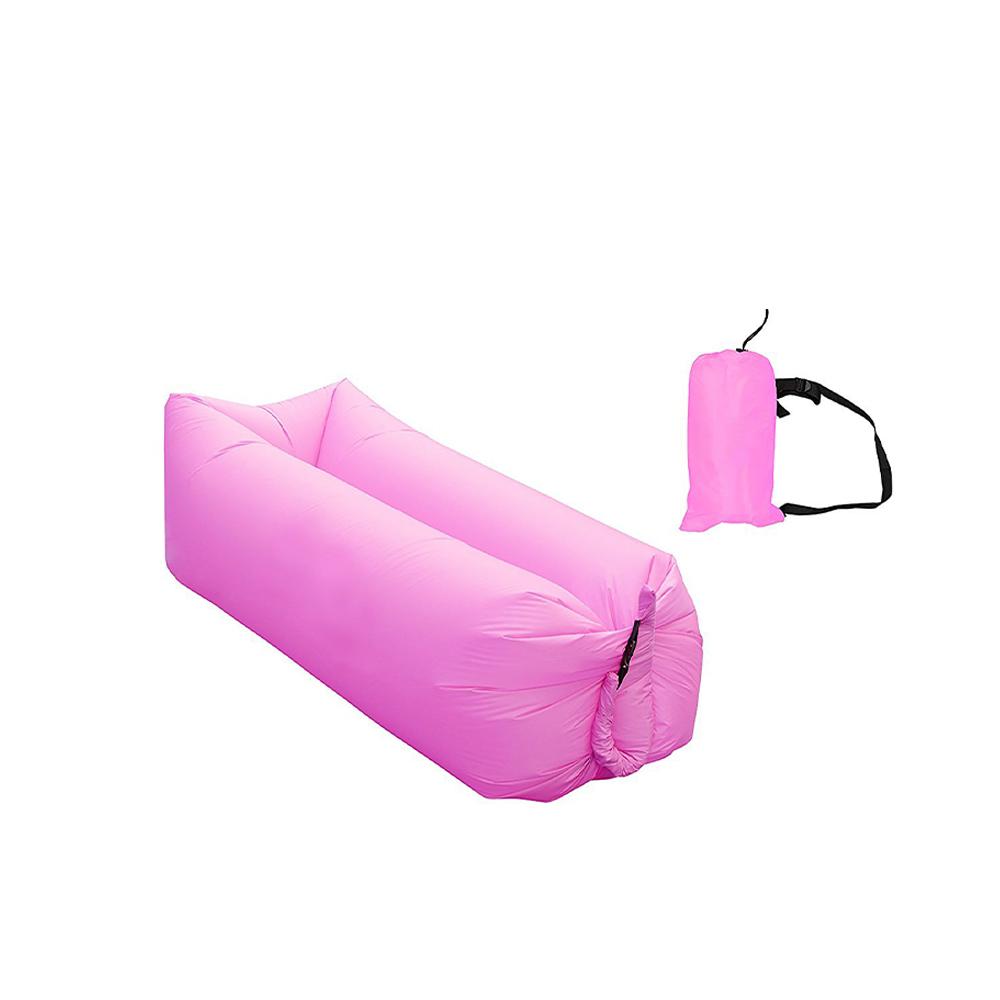Saco de dormir Sofa Inflavel Puff Camping Preguiçoso Colchonete Magico   Ar Praia Passeios Portatil Trilha