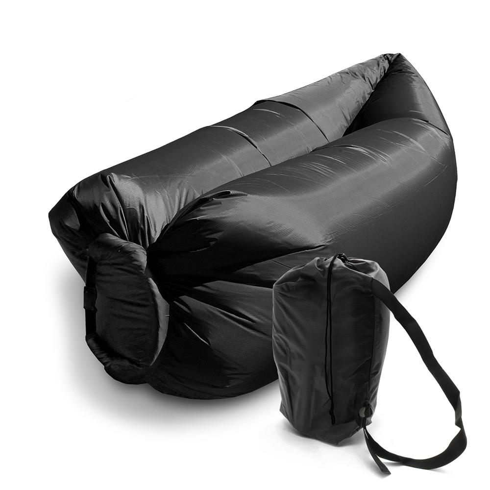 Saco de dormir Sofa Inflavel Puff Camping Preguiçoso Colchonete Magico Portatil Trilha  Ar Praia Passeios