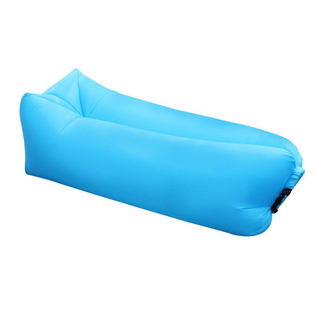 Saco de dormir Sofa Inflavel Puff Preguiçoso Camping Colchonete Magico Portatil Trilha Passeios Praia Ar