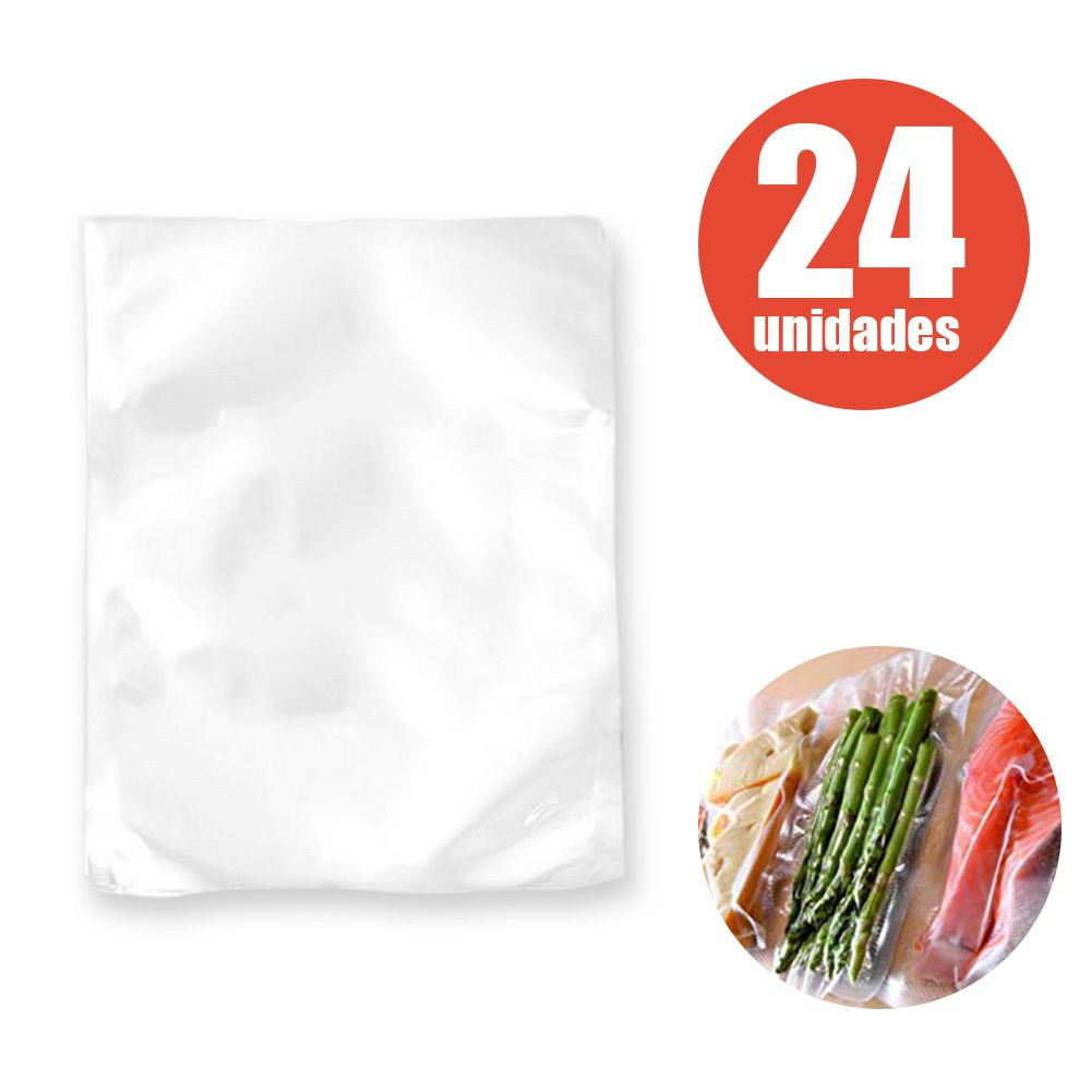 Saco Seladora 24 Un. Selar Embalagem Vacuo Saquinho Selagem