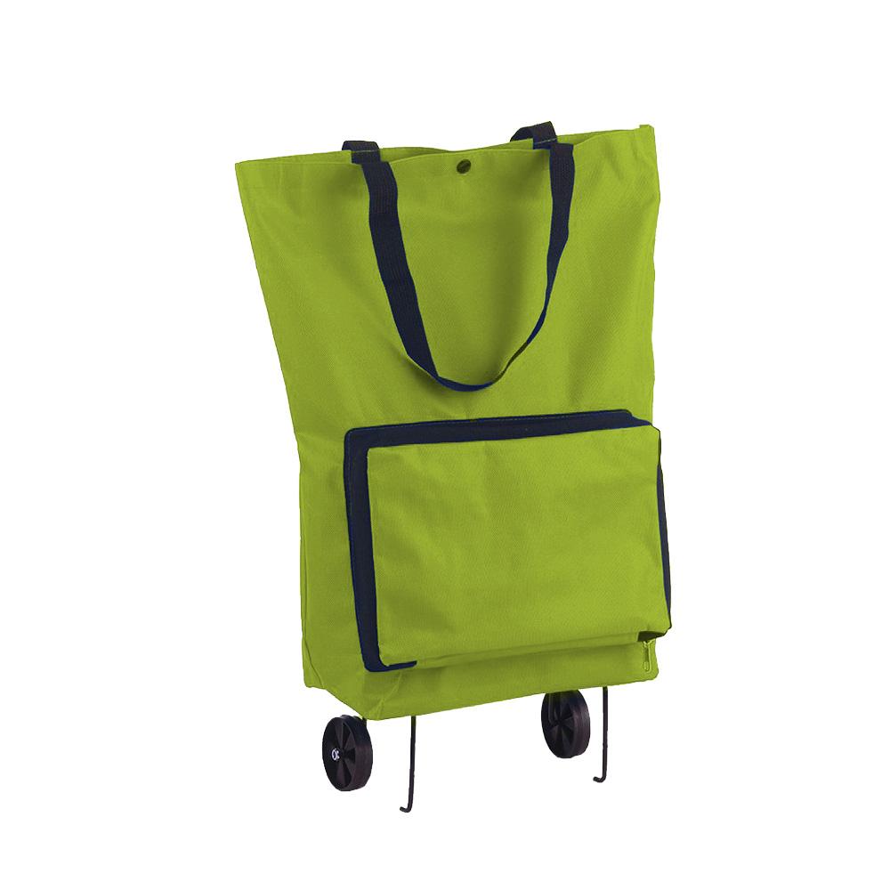 Sacola Carrinho de Compras Bolsa Dobravel Feira 2 rodas Reforçada Portatil
