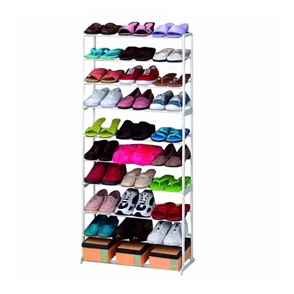 Sapateira 30 Pares 10 Andares Quarto Sapatos Casa Organizaçao Kit 9 Uni