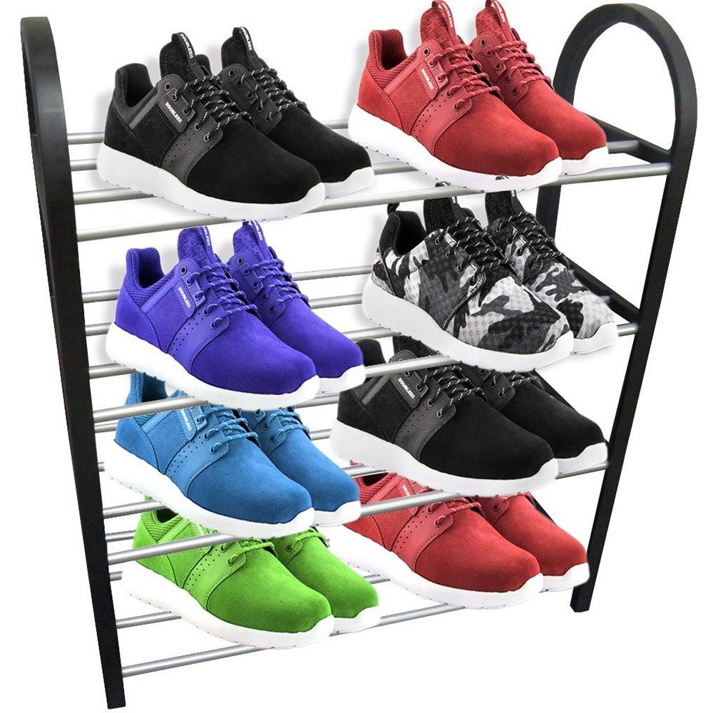 Sapateira Organizador Sapatos Tenis 8 Pares 4 Andares Desmontavel Movel Casa Quarto corredor predio porta