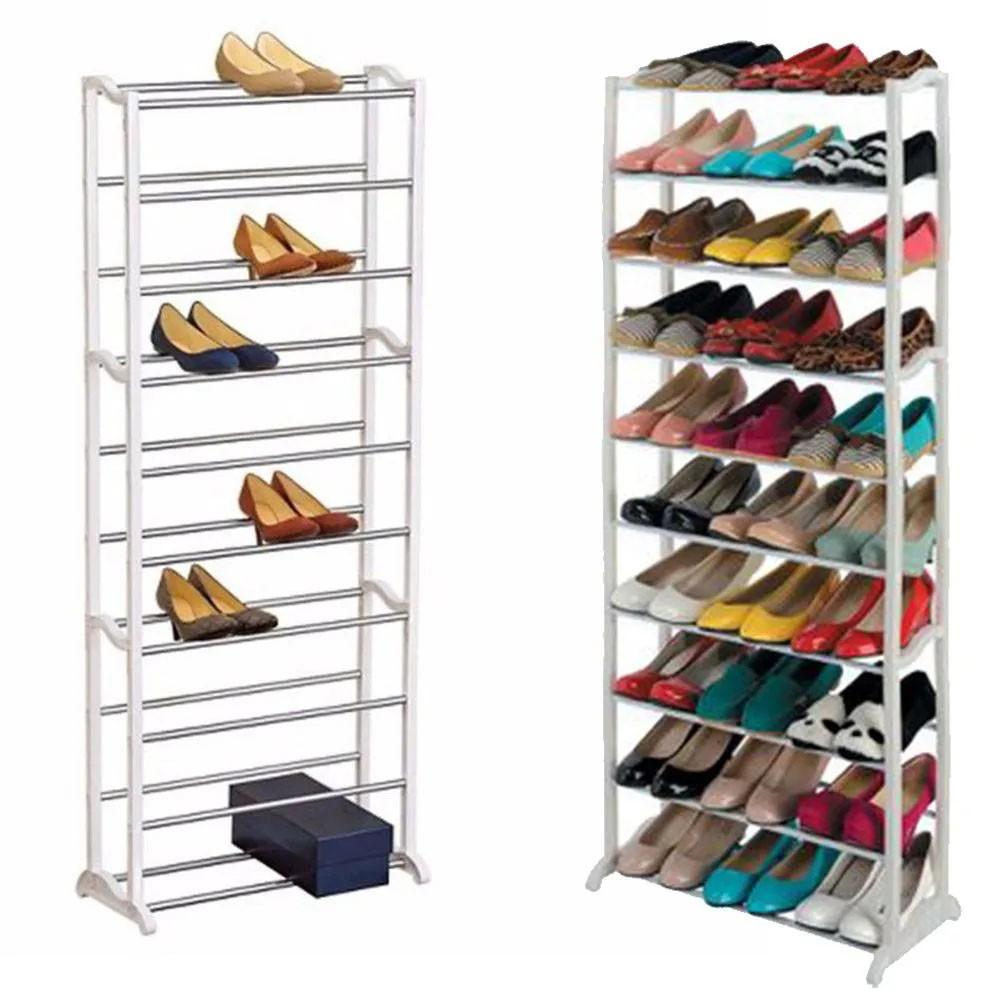 Sapateira Vertical 30 Pares 10 Andares Sapatos Casa Quarto Organizaçao Decoraçao