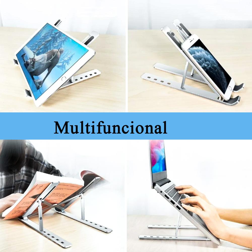 Suporte Apoio Base Para Notebook Dobravel Laptop Slim Ergonomico Portatil