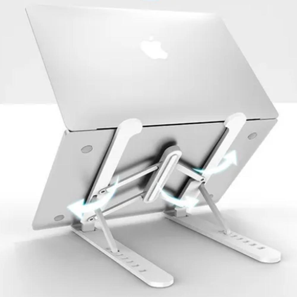 Suporte De Mesa Para Notebook Portatil Regulavel Laptop Ajustavel Slim Ergonomico