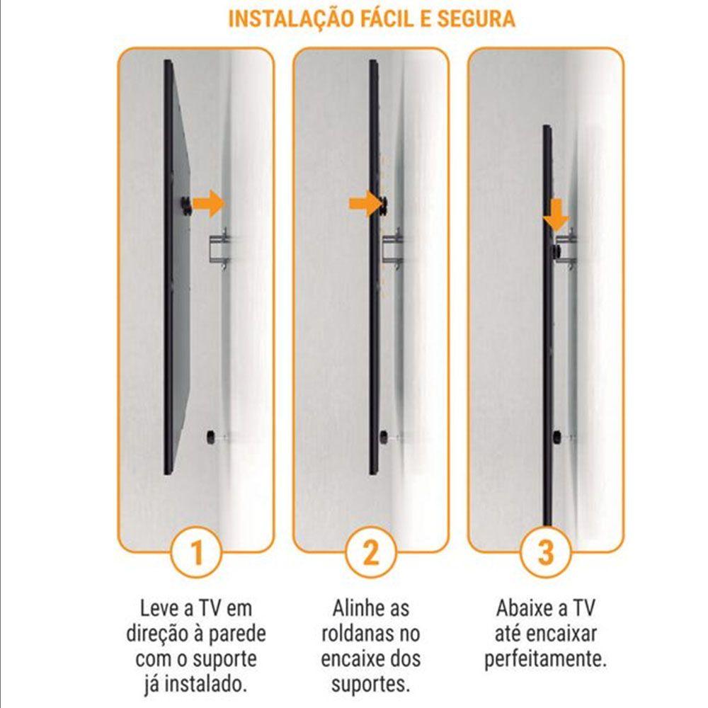 Suporte Universal TV Televisao 15 a 84 Polegadas Fixo Smart Led LCD Plasma