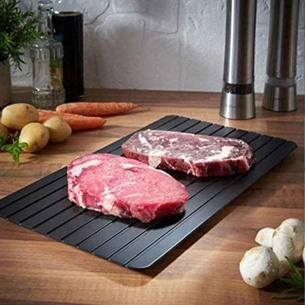 Tabua Descongelamento Rapido Carnes Alimentos Media Bandeja Natural