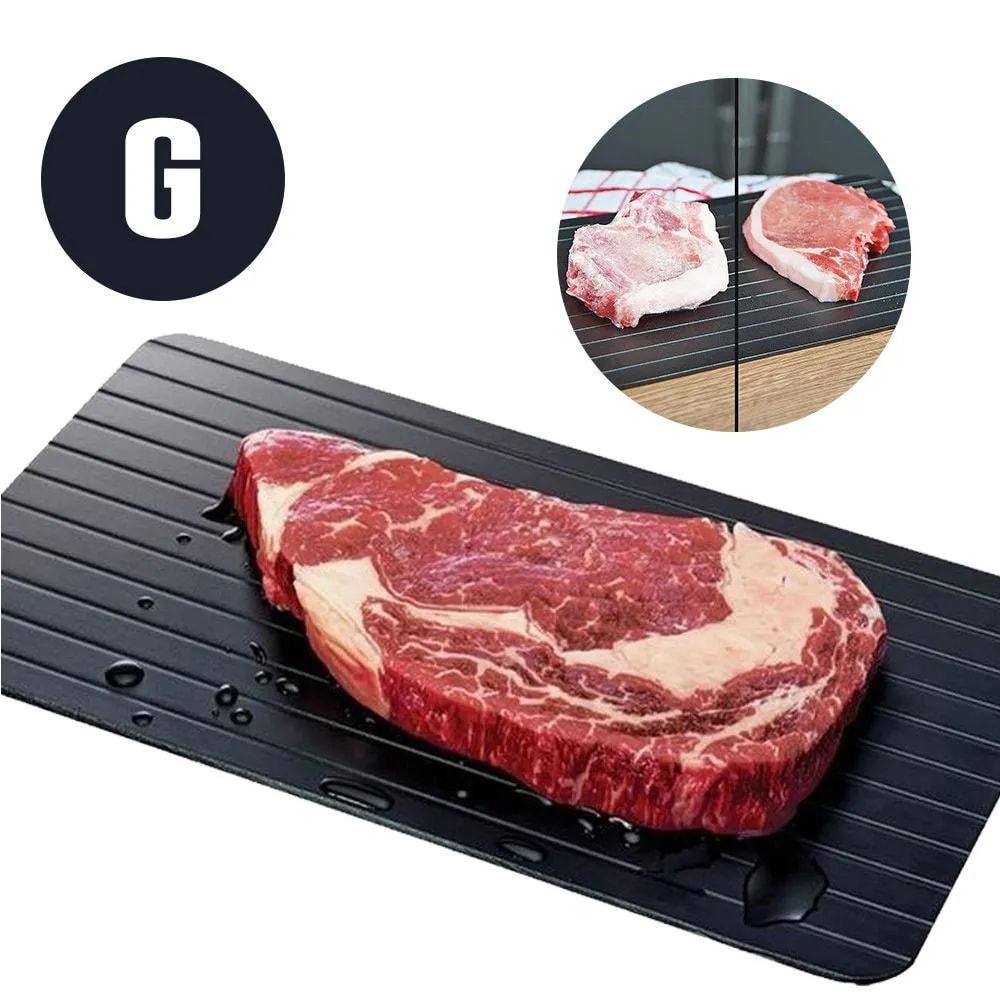 Tabua Descongelamento Rapido Carnes Bandeja Grande Natural Alimentos