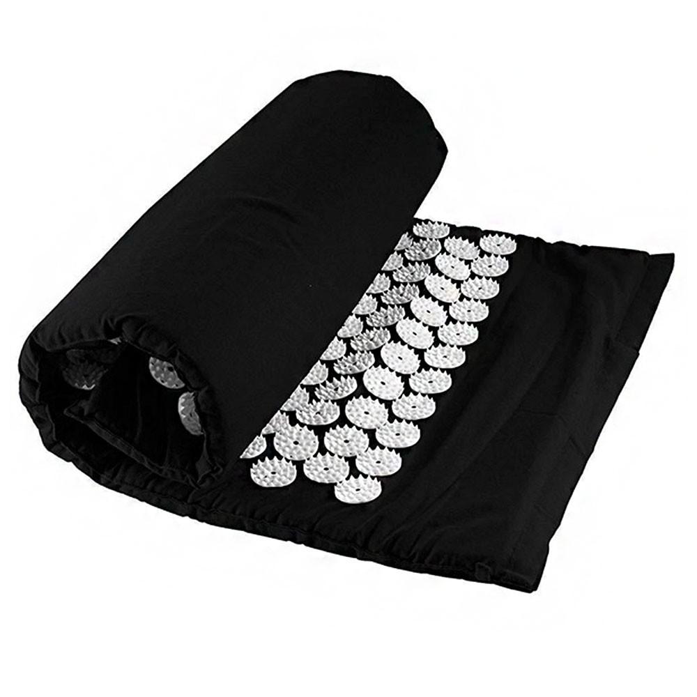 Tapete de Acupuntura Acupressao Travesseiro Esteira Massagem Alivia Dores Costas Pescoço Yoga Pilates Relaxamento