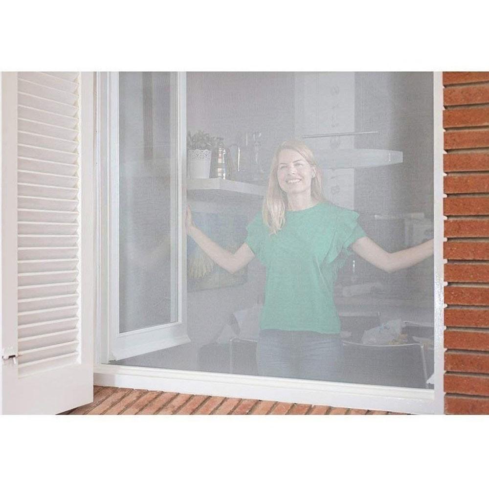 Tela Cortina Mosquiteiro KIT 3 UNI Dengue Magnetico Janela Facil Instalação 150X180