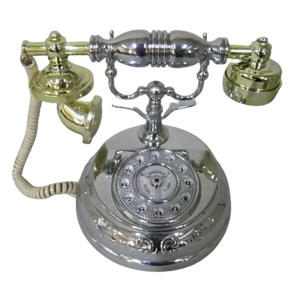 Telefone de Mesa Retro Vintage Antigo Decoração Raro Casa Telefonia Design Classico Fixo Coleçao
