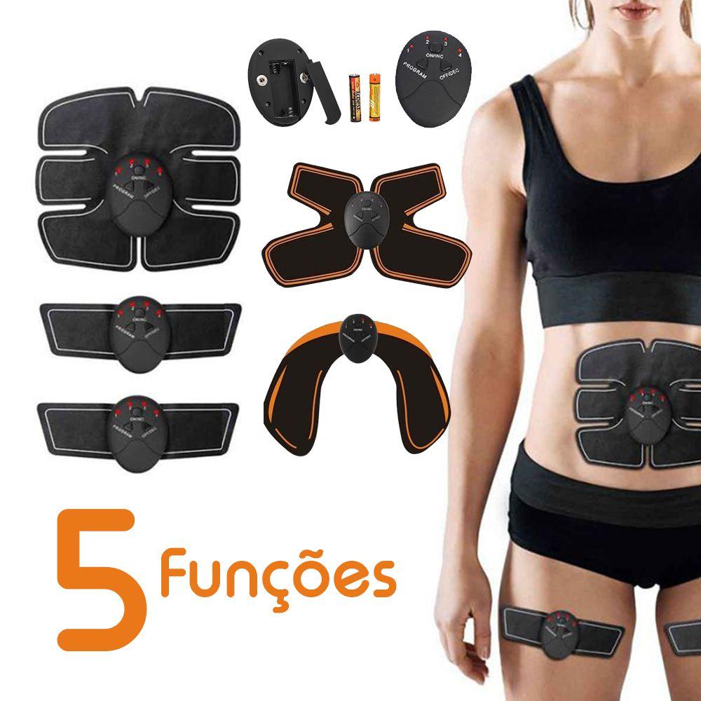 Tonificador Muscular 5 Em 1 Abdomen Pernas Bumbum Biceps Estimulo Eletrico