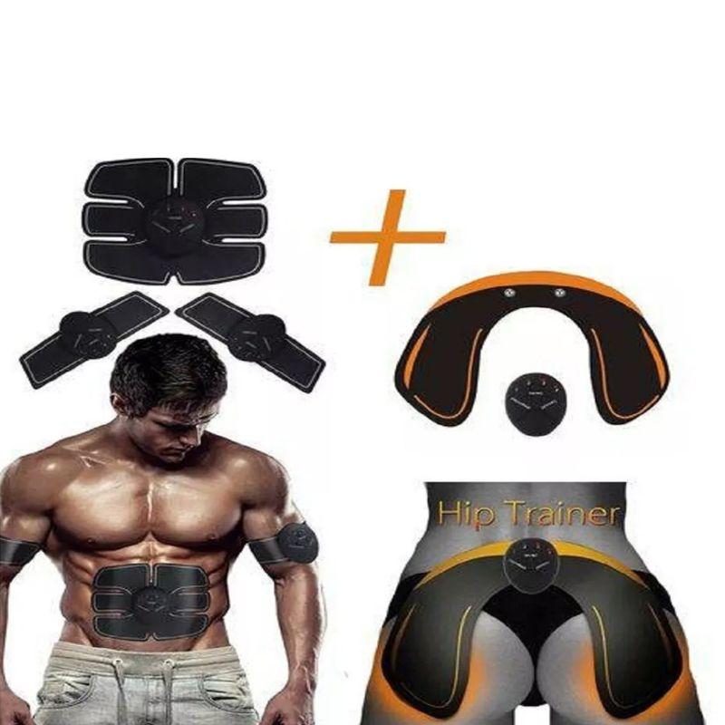 Tonificador Muscular 5 Em 1 Abdominal Estimulo Eletrico Abdomen Pernas Bumbum