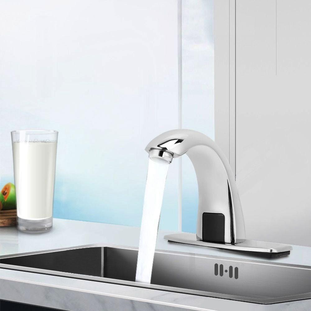 Torneira Automatica Sensor Maos Mesa Banheiro Luxo Eletrica Misturador Restaurante Hotel