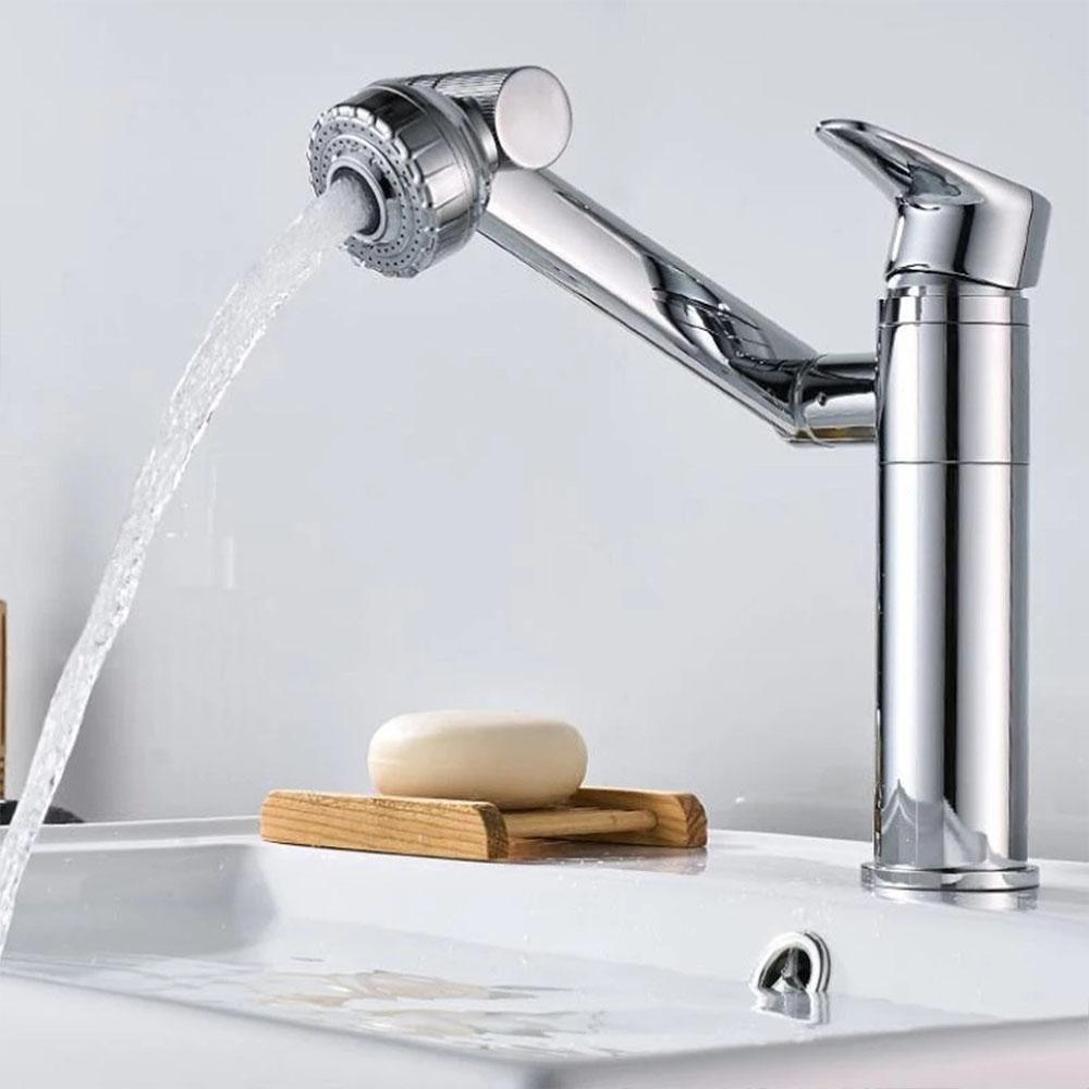 Torneira Luxo Banheiro Monocomando Lavabos 360º Misturador Articulada Lavatorio