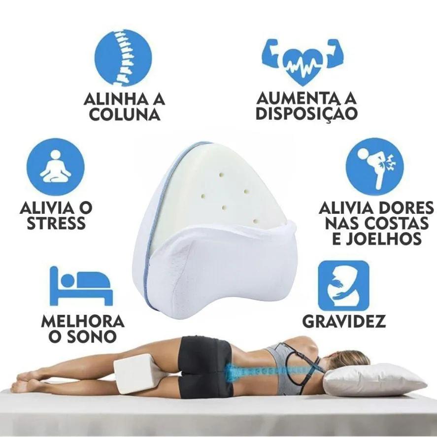 Travesseiro Alinha Coluna Dormir Bem Nasa Dor nas Costas Memoria Gravida