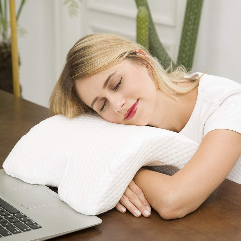 Travesseiro Almofada Conchinha Ortopedico Conforto Anatomico Cervical Casal Soneca