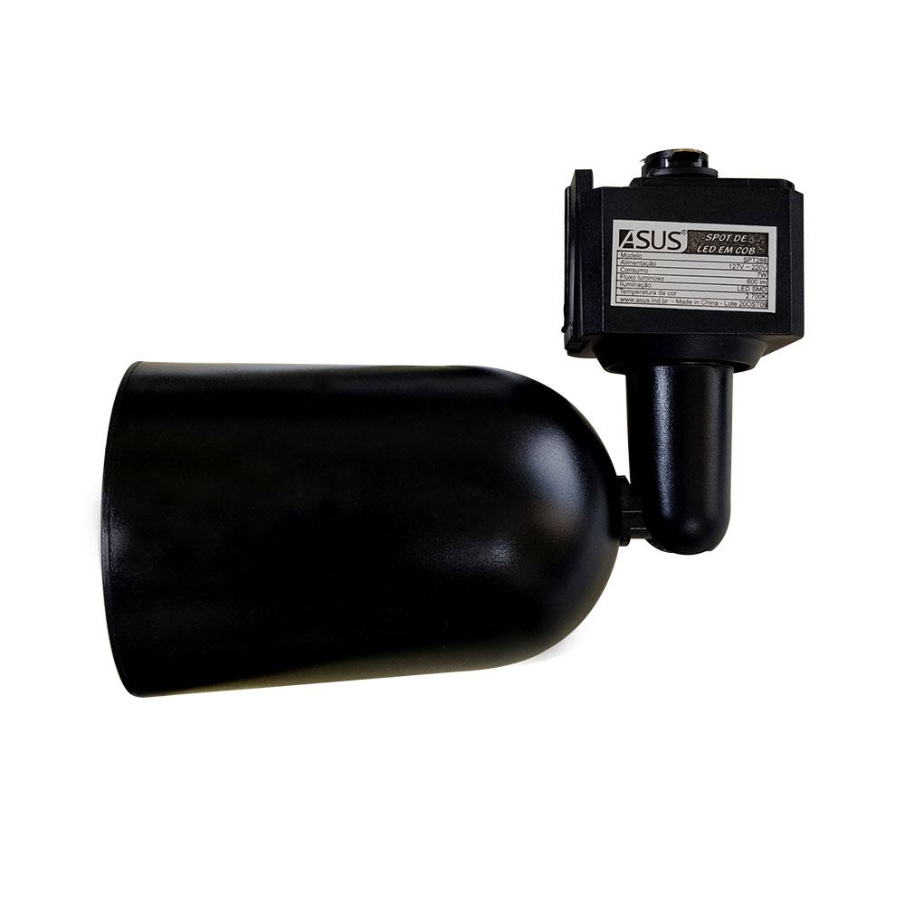 Trilho Eletrificado Kit 3 Spot de Led 1m Decoração Iluminação Luz Casa