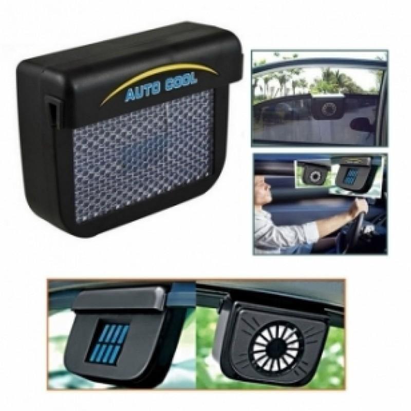 Ventilador Automotivo Energia Solar Janela Veiculo Carro Auto Cool