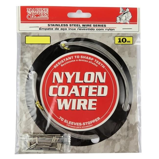 Cabo de Aço Flexível Marine Sports Nylon Coated Wire 10m