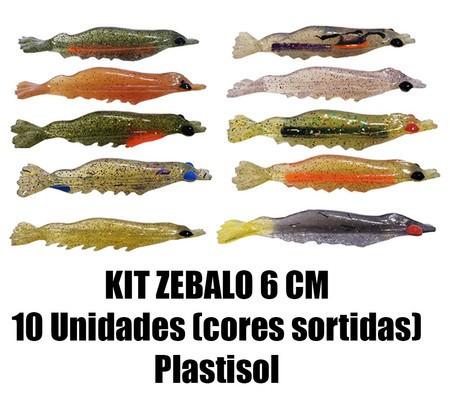 Camarão Zebalo 6 cm - 10 Unidades