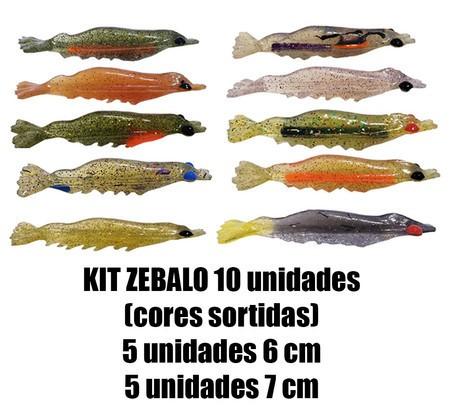Camarão Zebalo 6 e 7 cm - 10 Unidades