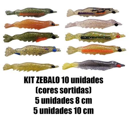 Camarão Zebalo 8 e 10 cm - 10 Unidades