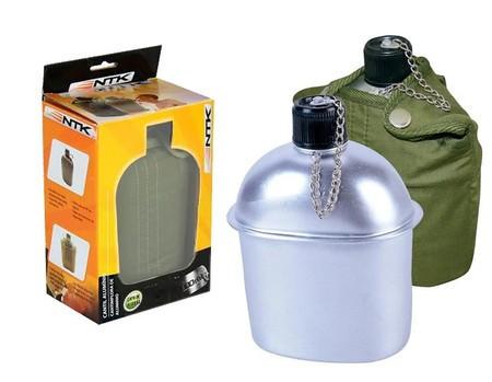 Cantil Termico Camping Militar Trilha Aluminio 900ml - NTK