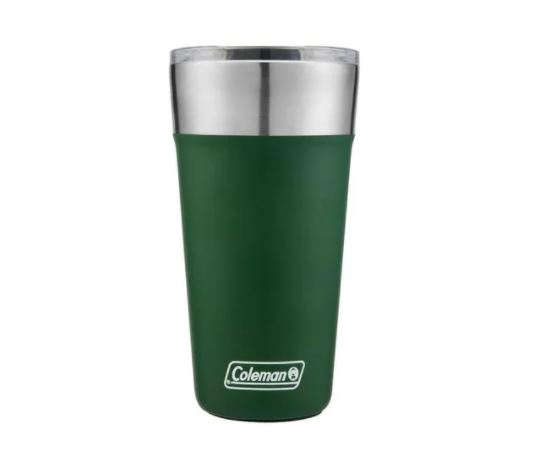 Copo Térmico De Cerveja Coleman 591 Ml Com Tampa Verde