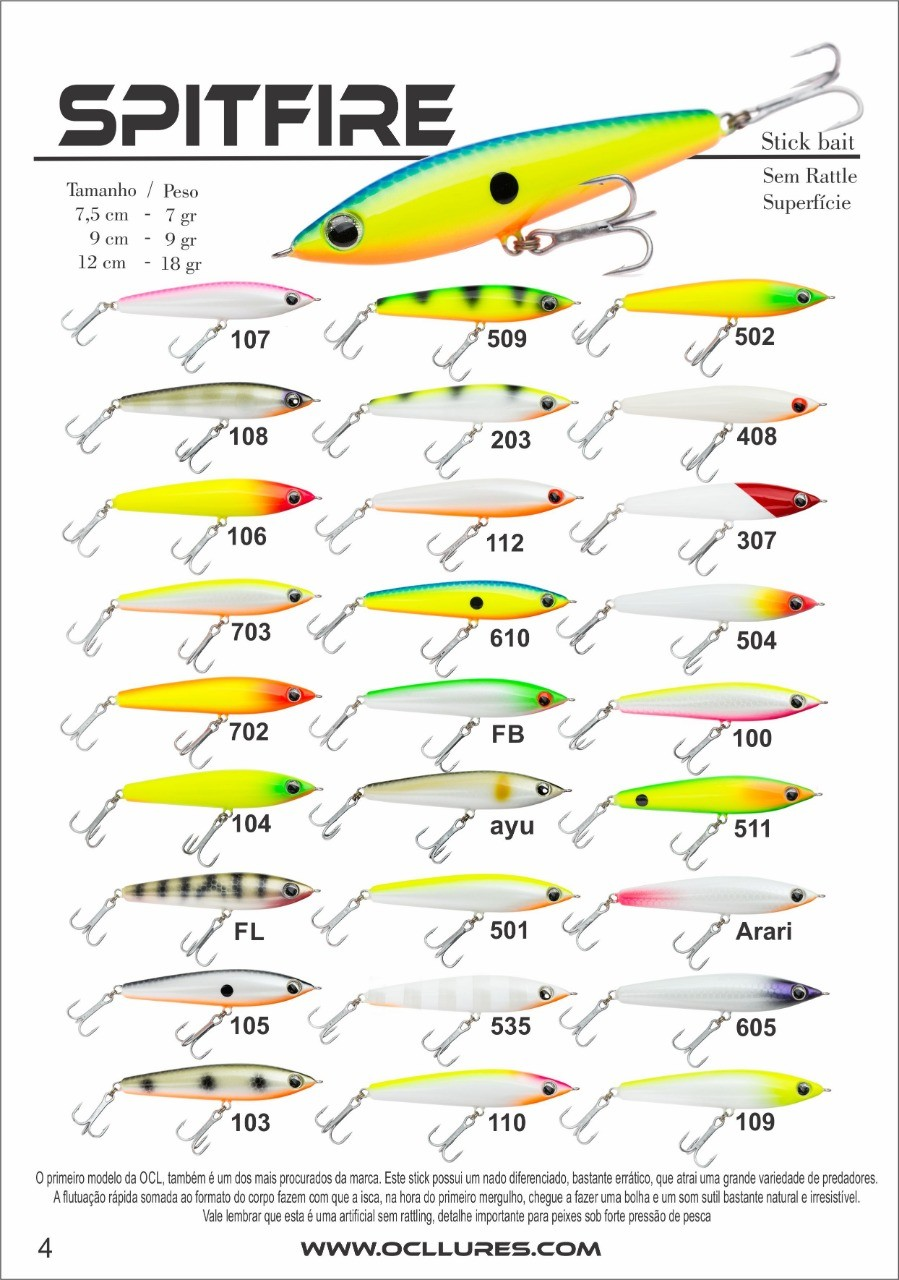 Isca Artificial OCL LURES SPITFIRE