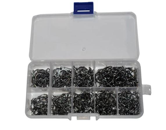 Kit 220 Anzol Aço Carbono - Com Caixa