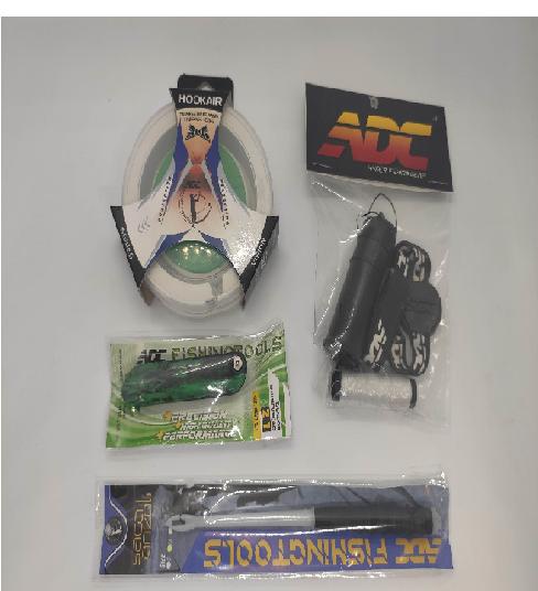 Kit ADC - Hookair + Porta Elástico + Iscador 2.1 + Saca Anzol