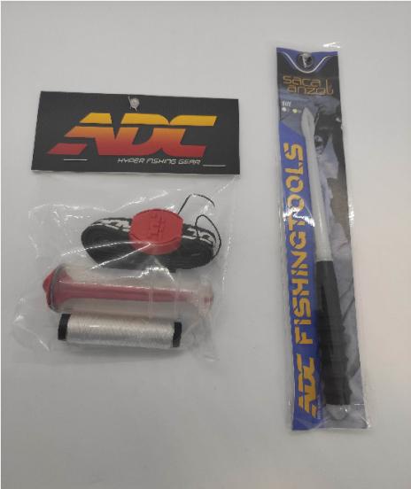 Kit ADC - Porta Elástico + Saca Anzol Desembuchador