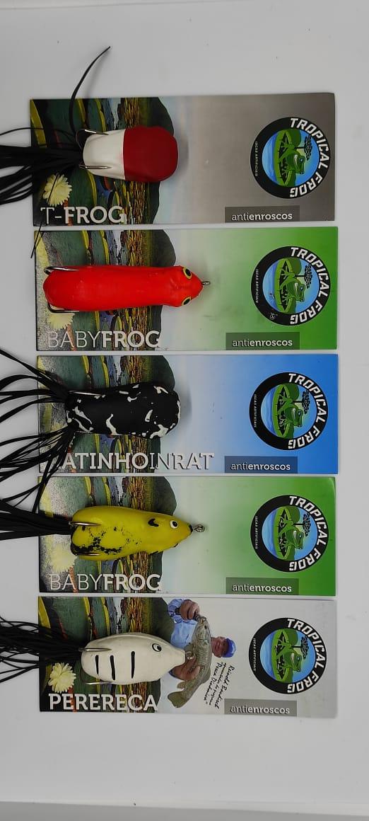Kit Pesca De Traira - 5 Iscas Tropical Frog (Cores Sortidas)