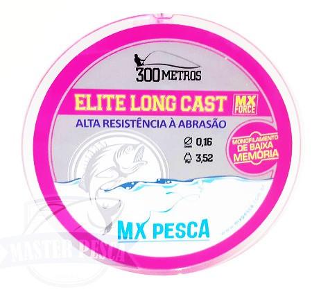 Linha Elite Long Cast 300m MX PESCA - Rosa