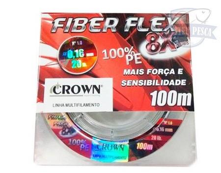 Linha Fiber Flex 8x 100m - CROWN