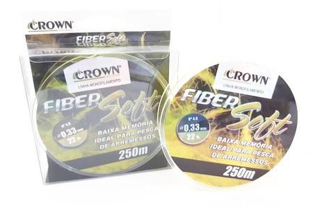 Linha Monofilamento Fiber Soft 250 m - CROWN