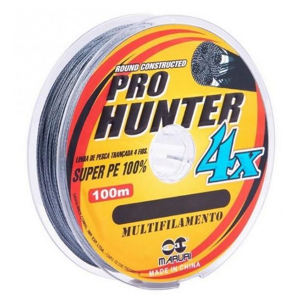 Linha Maruri Multifilamento  Pro Hunter 4x  - 100m - Cinza