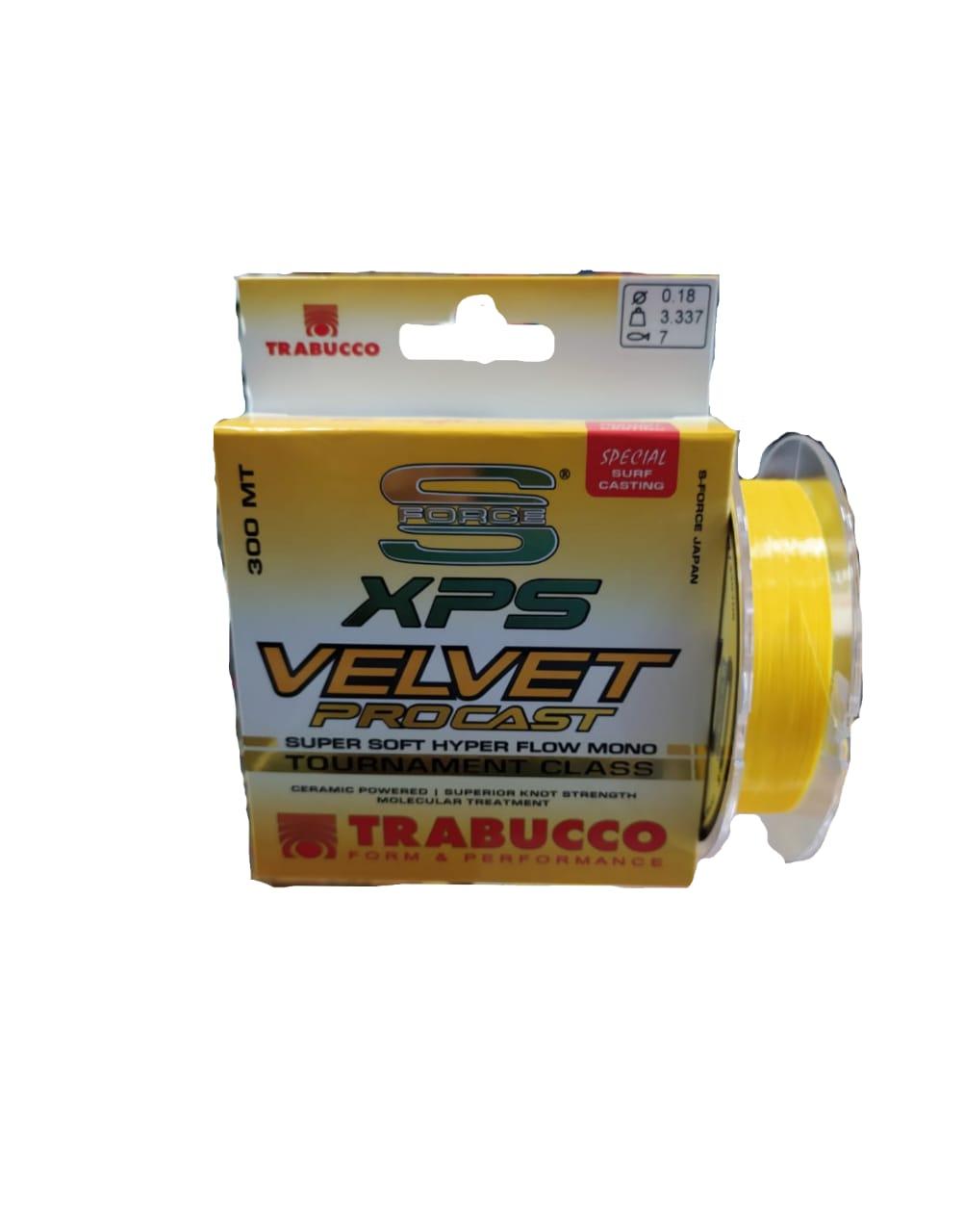 Linha Trabucco Monofilamento VELVET XPS PROCAST 300m - Amarela