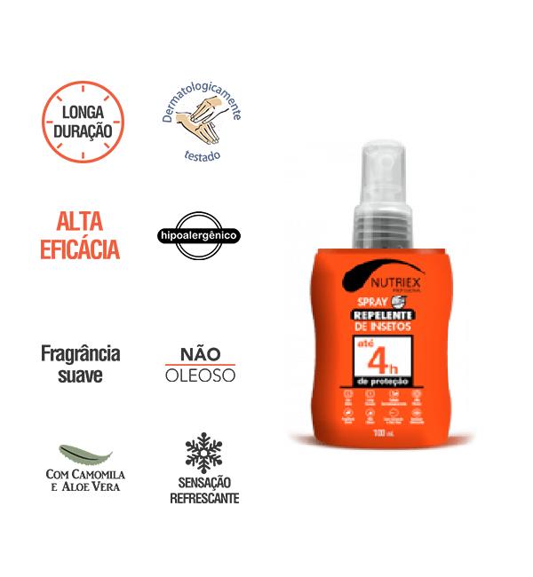 Repelente Spray Suave 4h de Proteção Nutriex Profissional Frasco 100ml