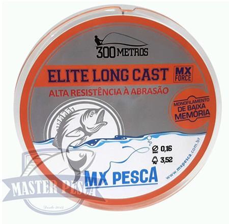 Linha Elite Long Cast 300m MX PESCA - Laranja