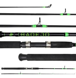 Vara Pesca Albatroz Badejo 1,65m 9-17lbs - Molinete  (2 Partes)