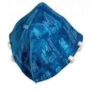 3M Máscara de Proteção Respiratória Respirador PFF-2 9820+BR AZUL - Selo Saúde e Inmetro Original