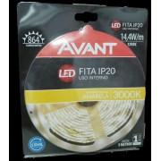 AVANT FITA LED IP20 14,4W/M 3000K 12V AMARELA C/ 5M - BIVOLT