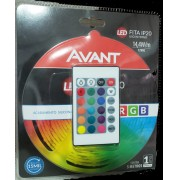 AVANT FITA LED IP20 14,4W/M RGB 12V C/ 5M + CONTROLE REMOTO -  BIVOLT