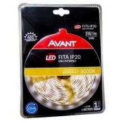 AVANT FITA LED IP20 8W/M 3000K 12V AMARELA C/ 5M - BIVOLT