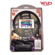 RG KIT FITA DE LED 12V RGB C/ CONTROLE + FONTE 5 METROS